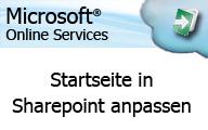 Microsoft Online Services: Anwender – Startseite in Sharepoint anpassen