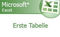 Excel 2007 Grundlagen – Erste Tabelle