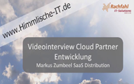 Videointerview SaaS Distribution – Cloud Partner Entwicklung