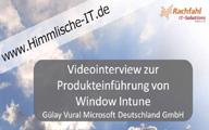 Videointerview zu Windows Intune – Gülay Vural von Microsoft Deutschland