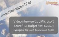 Videointerview mit Holger Sirtl zu Azure auf der TechSummit Cloud 2011