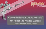 Videointerview – Holger Sirtl Azure VM Rolle TechSummit Cloud 2011