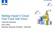 Hyper-V-Community – NetApp Hyper-V Cloud – Udo Lorenz