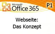 Office 365 P1: Die Webseite das Konzept