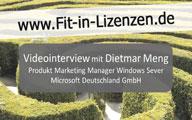 Videointerview mit Dietmar Meng – Windows Server Lizenzierung in der Virtualisierung