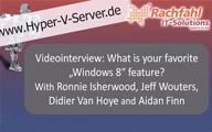 Videointerview: What is your favorite Windows 8 feature