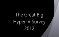 Videointerview: The Great Big Hyper-V Survey