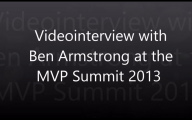 Videointerview with Ben Armstrong at the MVP Global Summit 2013