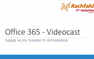Der Teamsite in Office 365 SharePoint online ein individuelles Theme zuordnen