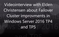 Videointerview with Elden Christensen about Clustering in 2016 TP5