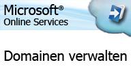 Microsoft Online Services – Administration – Domain verwalten