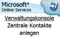 Microsoft Online Services (BPOS) – Administration – zentrale Kontakte in der Verwaltungskonsole